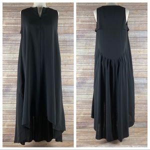 COS Sleeveless Pleat Lagenlook Black Tent Dress